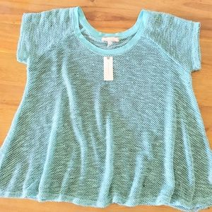 [Anthropologie] Blue Knit Top Short Sleeve…